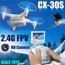 Free shipping CX30S Drone 4CH 6 Axis RC Quadcopter Helicopter 2.4G&IOS&Android Control  with Camera FPV Monitor VS SYMA X8W H9D