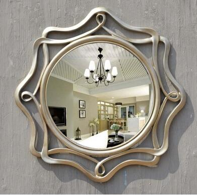 Hanging porch decorate hollow circular bathroom bathroom vanity mirror ...
