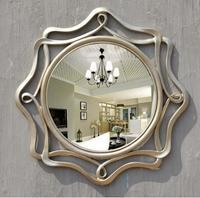 Hanging porch decorate hollow circular bathroom bathroom vanity mirror