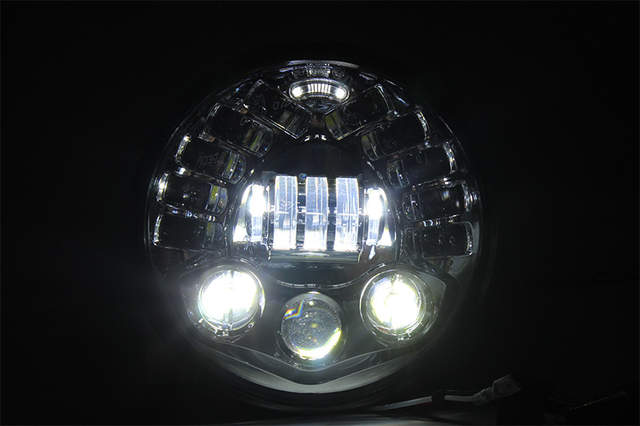 US $112 31 28% OFF|FADUEIS 7 inch Motorcycle Led Projector Daymaker  Adaptive Headlight High Low Beam For Harley BMW R NineT R9T 7