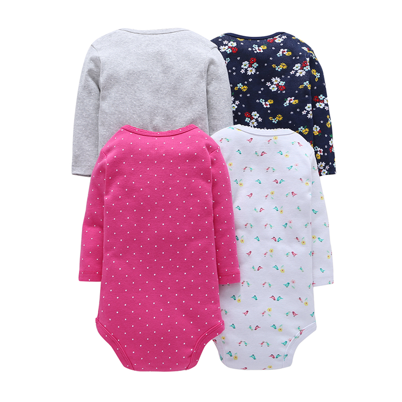 4PcsLot-Summer-Baby-Girl-Bodysuits-Set-Rose-Red-Dot-Long-Sleeves-Black-Flowers-Cotton-Baby-Bodysuits-Baby-Girl-Clothes-Sets-V20-1