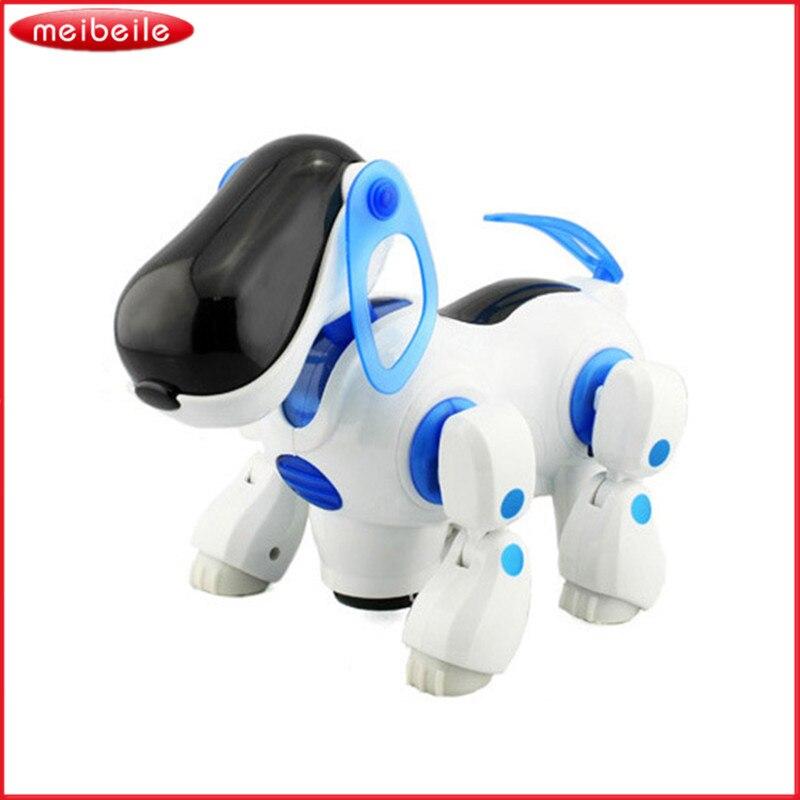 Niños Toy Robot Electrónico Seguro Caminar Puppy Dog Toy Niños con Música  Ligera Regalo para Los Niños Envío gratis 76bb09e547fe