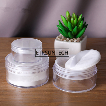 20g 50g Empty Loose Powder Compact With The Grid Sifter & Puff Jar Packing Container Powdery Cake Box Cosmetic Case F1540