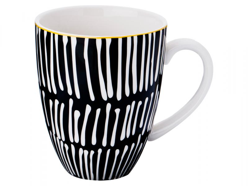 Mug Lefard, Vogue, 350 ml, black, with pattern quality black pattern removeable wall stickers