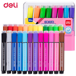 Deli 12/18/24/36 Colors Washable colored Pen painting Markers artist Drawing set student Art Supplies highlights watercolor pens