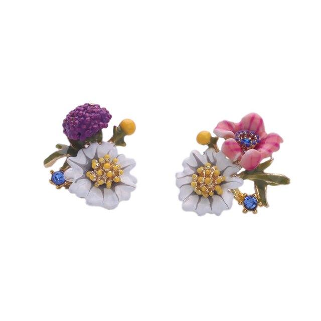 Милые Мода Красивые Цветы Серьги Очаровательная Асимметричная Женщины Ювелирного Бренда Серьги