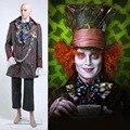 Johnny Depp Sombrerero loco de alicia en el país de Las Maravillas Cosplay Costume Set