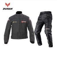 DUHAN męska Motocykl Motocross Off-Road Racing Jacket Body Armor + Jazda Kolana Spodnie Ochronne Odzież Zestaw Czarny niebieski Czerwony