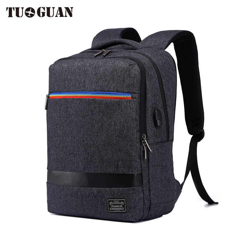 TUGUAN 17 Inch Large Capacity Men Backpack Canvas Waterproof USB Charging School Backpack Travel Business Casual Laptop Bag men 15 inch laptop business bag outdoor travel hiking backpack large capacity school daypack for tablet pc notebook computer