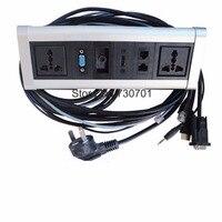 Настроить алюминиевый сплав RCA HDMI VGA USB сетевой Displayport столешницы настольная розетка