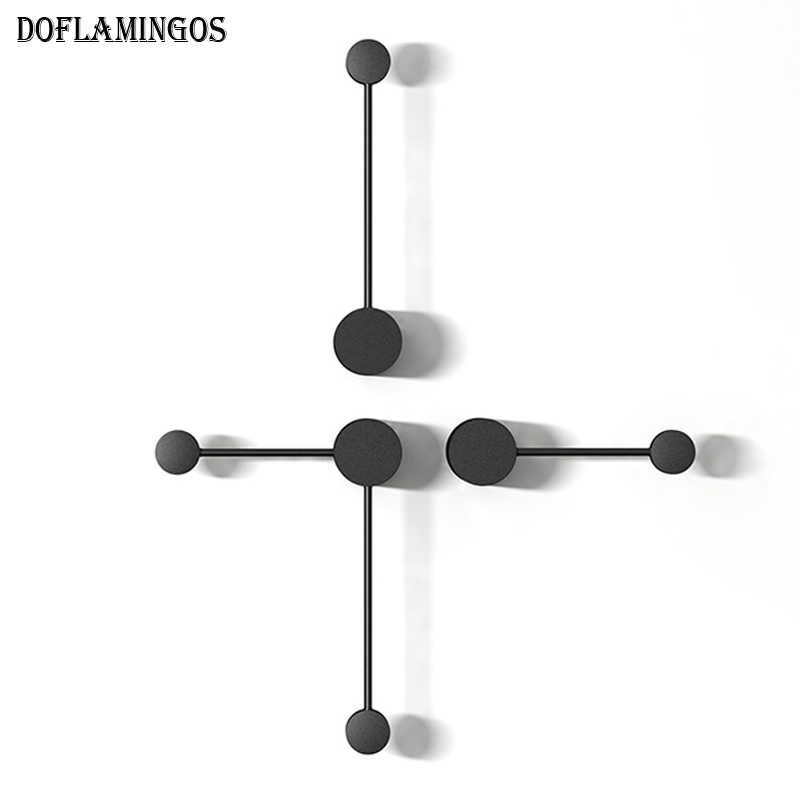 Image 5 - 2019 NEW Minimalist art Dots wall light modern LED living room wall lamp Nordic creative aisle lighting fixtures Black White-in LED Indoor Wall Lamps from Lights & Lighting