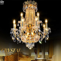 Golden Crystal living room floor luxury penthouse villa spiral staircase  Ceiling Lights OLU-0009