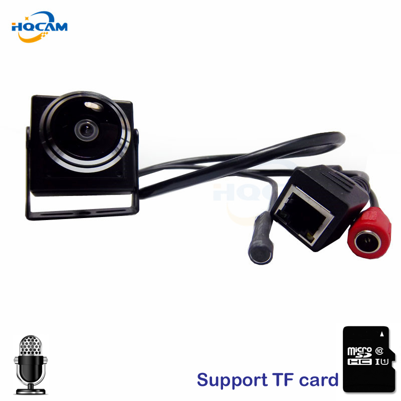 HQCAM CAMHI Audio 720P Micro TF SD Camera Mini IP Camera Home Security Camera Indoor CCTV IP Kamera 1.78MM Fisheye Lens Wide fisheye lens micro ccd camera mini car camera