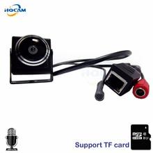 HQCAM CAMHI Audio 720P Micro TF SD Camera Mini IP Camera Home Security Camera Indoor CCTV IP Kamera 1.78MM Fisheye Lens Wide
