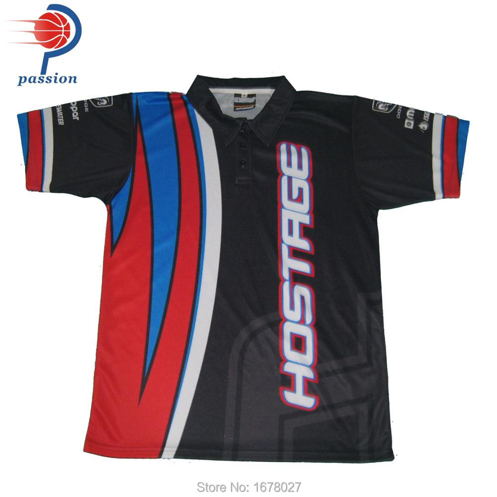 Wholesale Racing Team Custom Pit Crew Shirts In Trainning Exercise