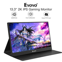 EM13J 13.32560x1440 Portable PC Gaming Monitor IPS Game Monitor with 4K HDMI Input for Switch Raspberry LCD LED Display Monitor