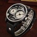 Ohsen marca digital led cuarzo de pulsera del deporte hombres 50 m impermeable de buceo banda de silicona reloj militar del relogio masculino regalo