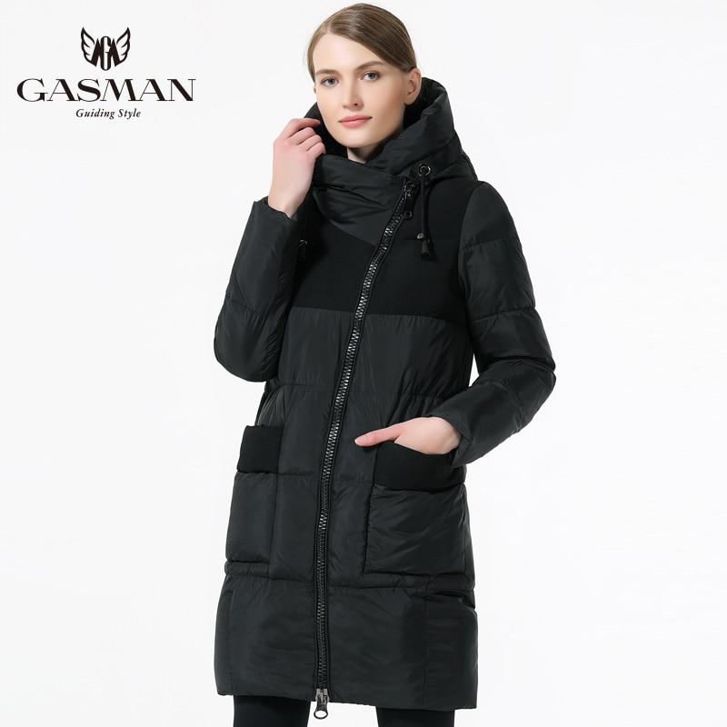 Gasman 2019 겨울 여성 브랜드 다운 재킷 패션 겨울 여성 코트 후드 두꺼운 파카 windproof 자켓 여성을위한-에서파카부터 여성 의류 의  그룹 2