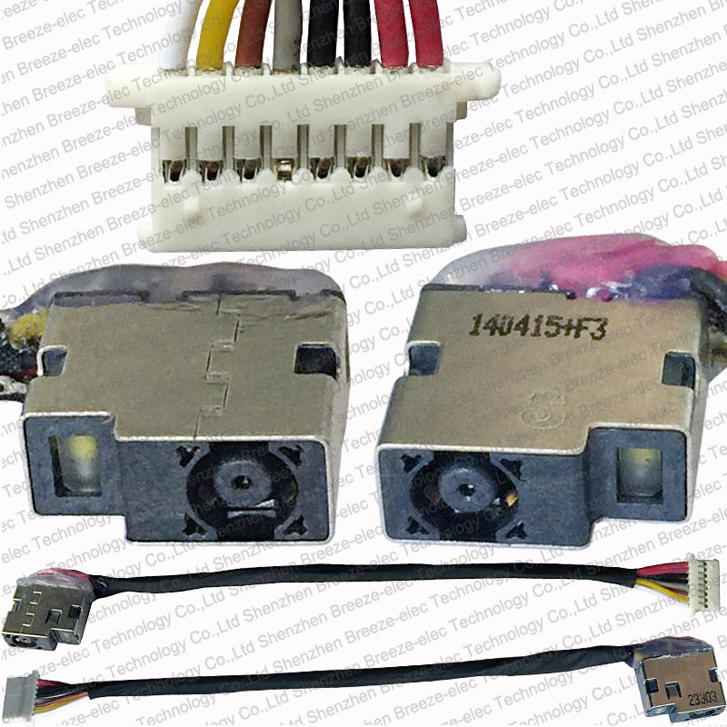 Tested New OEM Laptop AC DC POWER JACK socket Cable connector wire FOR HP ProBook 450 G3 Series 827039-001 804187-F17 (V7-10) 654306 001 fit for hp probook 4535s series laptop motherboard 1gb ddr3 socket sf1 100% working