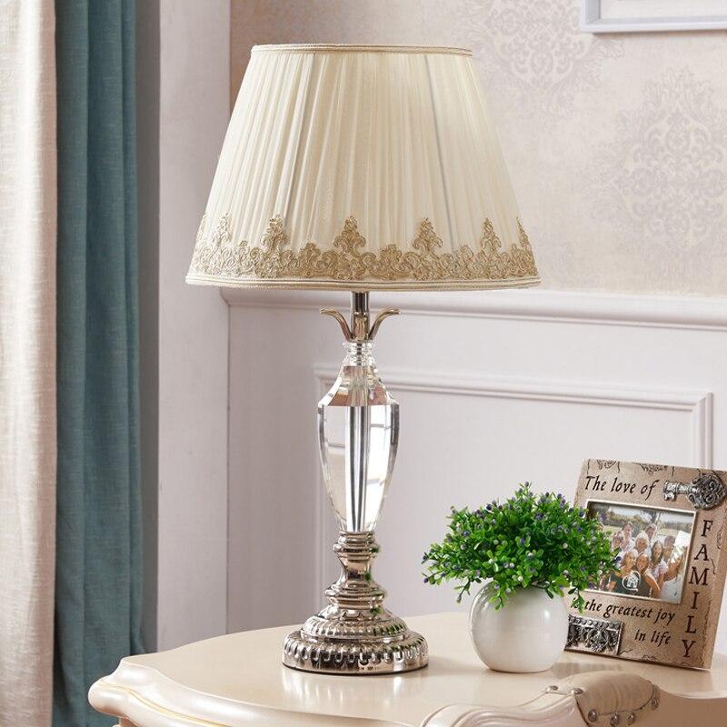 US $272.0 15% di SCONTO|Decorazione della casa tavolo Camera Da Letto luce  lampada di cristallo led regali di nozze di cristallo Di moda di Lusso ...