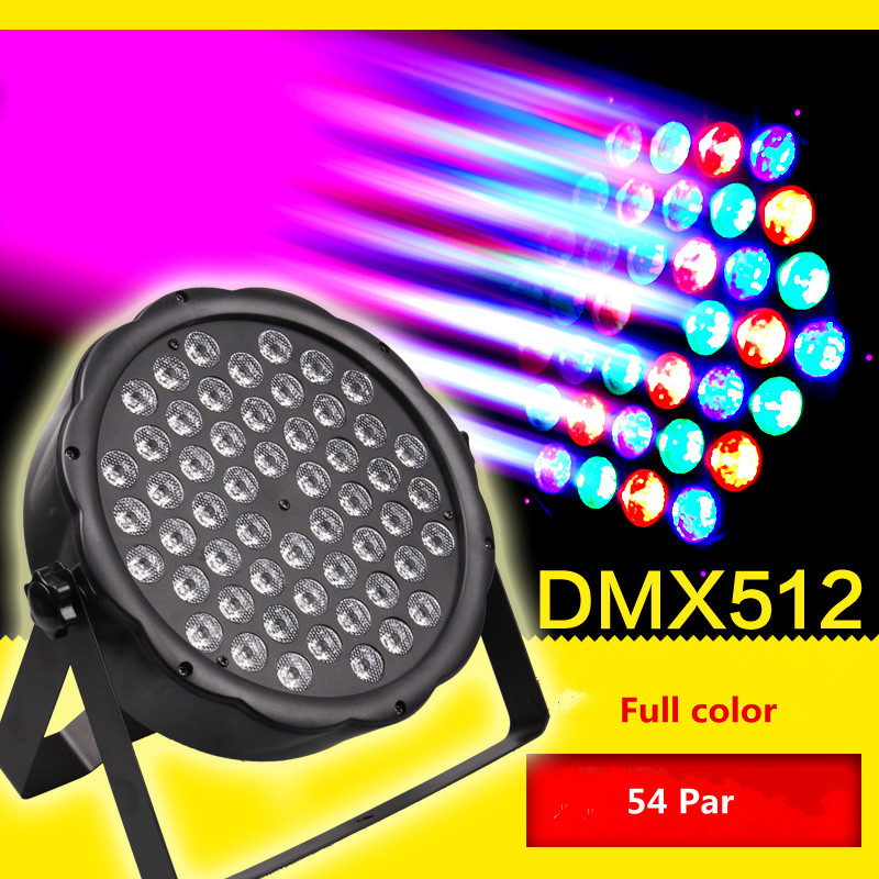 Nouvelle scène éclairage polychrome 54 LED par lumière lampe mariage lumière ingénierie lumières