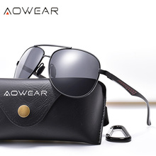 AOWEAR Brand Designer 2019 Aviation Sunglasses Men Polarized