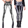 Women Fashion Spring And Autumn Legging New Hot 3D Sky Skull Printed Sexy Milk Silk Legging Pant Feet Ropa Deporte Mujer 75AA498