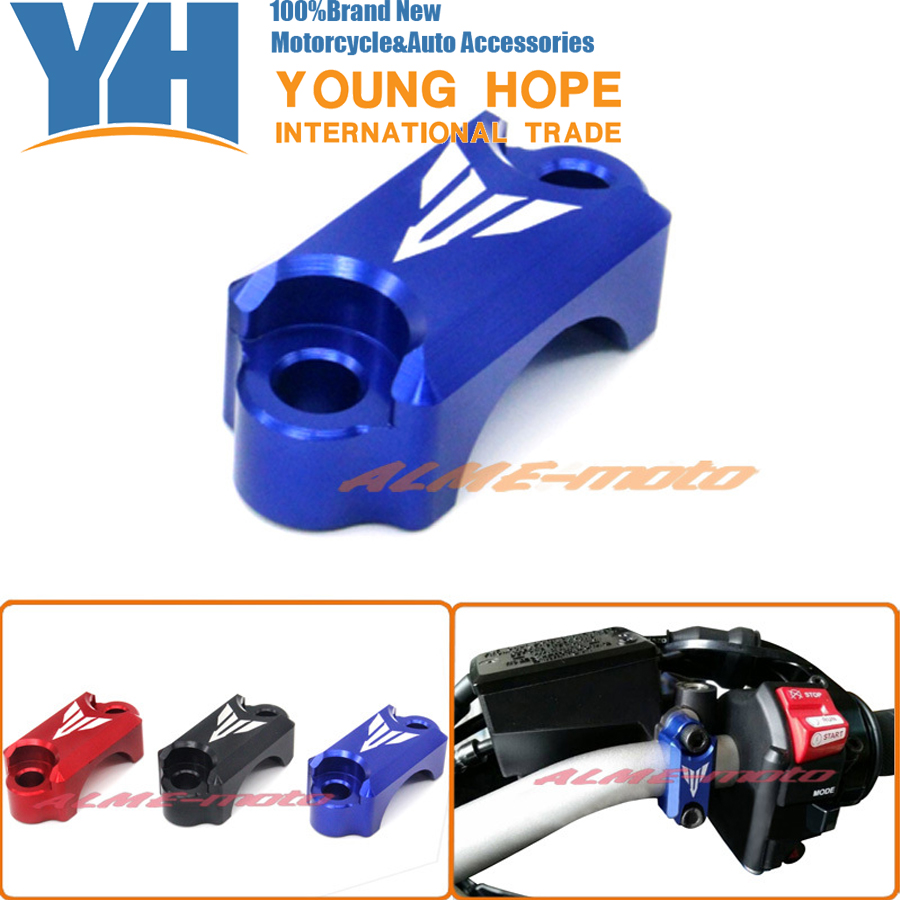 Motorcycle CNC Brake Master Cylinder Clamp Handlebar Clamp Cover For YAMAHA FZ6 FZ1 FZ8 XJ6 XJR1300 Blue for yamaha fz6 fz1 fz8 xj6 xjr1300 motorcycle cnc aluminum brake master cylinder clamp handlebar clamp cover red