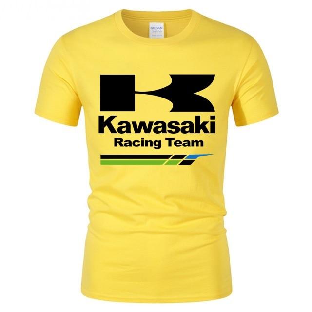 Sport Fitness Men's Tops Tshirt Summer Comfortable Cotton T Shirt Kawasaki Racing Team Man T-shirt Kawasaki Ninja Teeshirts