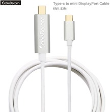 CableDeconn Thunderbolt 3 Hub USB 3.1 Type C to Mini DisplayPort Male 4Kx2K 60Hz 1.8m Cable for Macbook Pro 2017 HuaWei Mate 10