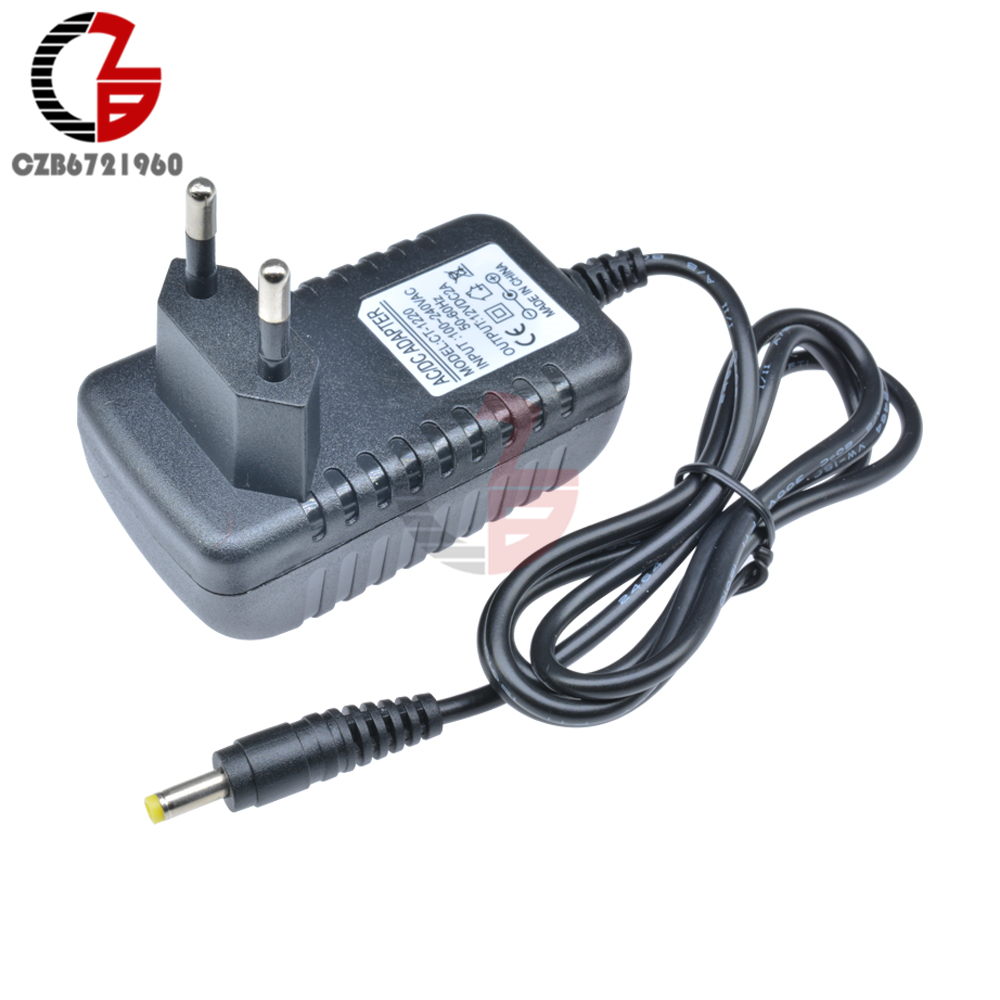 220V EU Plug <font><b>AC</b></font>-DC Power <font><b>Adapter</b></font> Supply Transformer <font><b>AC</b></font> 100-240V to DC <font><b>12V</b></font> 2A Step Down Voltage Converter Regulator for LED Light image