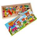 Медведь Переодевания Деревянные Игрушки Головоломки Медведь Семьи Туалетный Головоломки Детские Развивающие Детские Игрушки