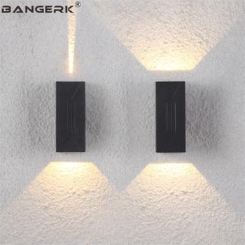 IP65 6 W LED al aire libre de la pared de la lámpara impermeable de aluminio porche iluminación moderna lámpara de pared luces de jardín balcón Decoración Accesorios