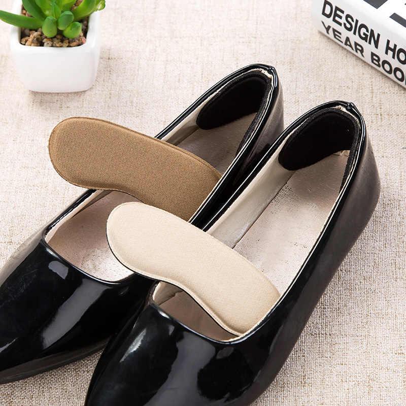 10Pcs = 5 คู่รองเท้ารองเท้าใส่รองเท้าส้นสูง Protector Anti Slip Cushion Pads Comfort Heel Liners Cushion Pad ที่มองไม่เห็นแทรกพื้นรองเท้า