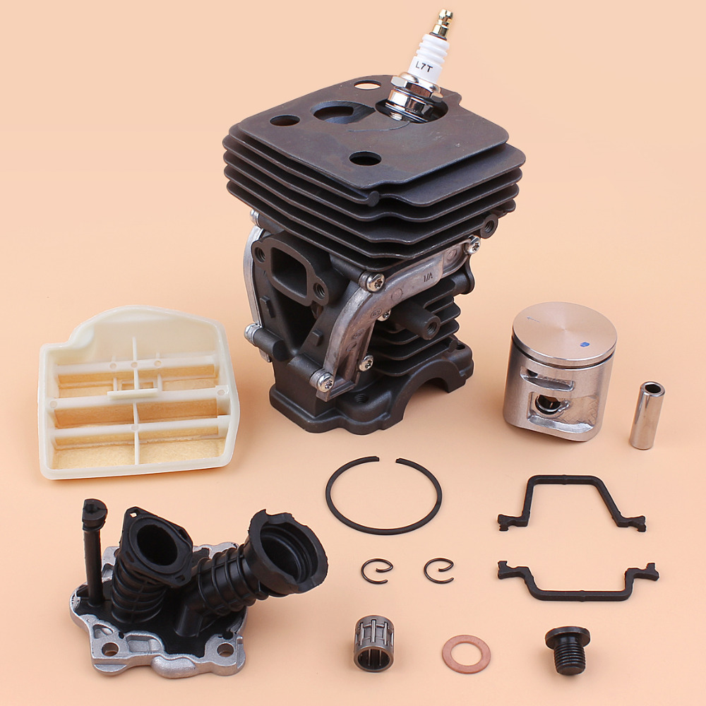 42MM Cylinder Piston Air Filter Intake Manifold Engine Kit For Husqvarna 445 E 445E Gas Chain Saws Chainsaw Rebuild Parts 42mm cylinder piston ring clips assembly kit fit husqvarna 445 445e replace oem no 544 11 99 02 page 9