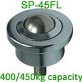 SP 45FL 45mm ball M20 bolt berg mild stahl ball transfer einheiten  400/450kgs Schwere Belastung kapazität SP45FL Ball transfer einheiten-in Fensterrollo aus Heimwerkerbedarf bei