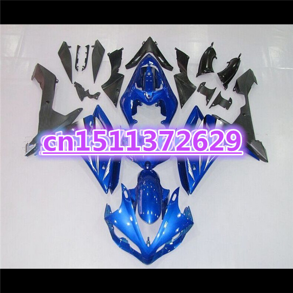 100%Fits <font><b>Fairings</b></font> for YZF <font><b>R1</b></font> 07 08 YZF-<font><b>R1</b></font> 07-08 blue black YZF1000 <font><b>R1</b></font> 07 08 YZF <font><b>R1</b></font> <font><b>2007</b></font> 2008 <font><b>fairing</b></font> kits-Dor for <font><b>Yamaha</b></font> D image