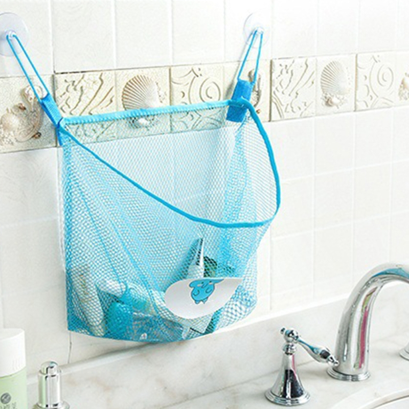 Lovely Child Folding EcoFriendly Mesh Bag Bath Toy Casual Bag Organiser Net Suction Baskets Kids Creative Bathroom Mesh Bags