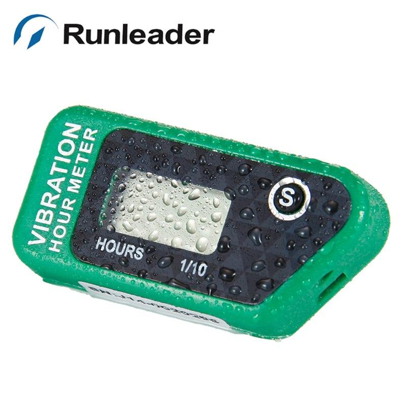 (5pcs/lot) Runleader Resettable LCD Wireless Vibration Hour Meter resettable Used For motocross jet ski OHV engine lawn mower