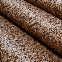 Natural Vermiculite Hub Wood Wallpaper Roll for Office room Bar Cafe Background 3d Wood Wall paper Wallcoverings Decor