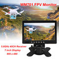"Free shipping!WM701 FPV 7"" LCD 800*480 Screen Wireless Diversity Receiver Monitor 5.8GHz 40CH"