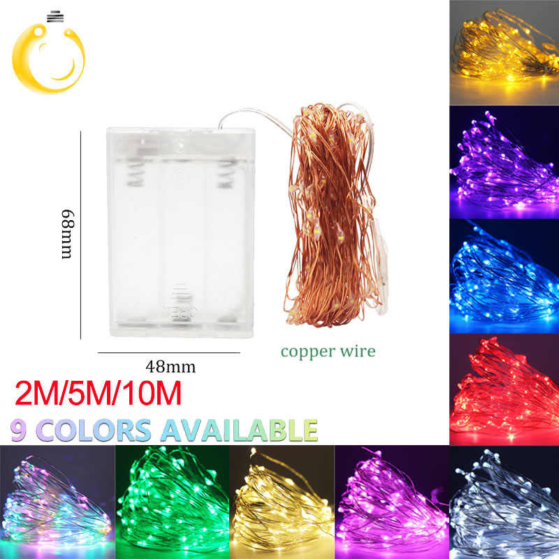 2m 5m 10m LED Copper Wire String Light with Bottle Stopper for Glass Craft Bottle Fairy light alentines Wedding Decoration Lamp