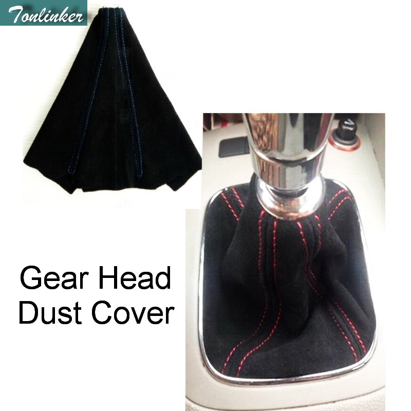 1 Pcs Pu Leather Car Styling Universal Gear Head Dust Cover Frosted Leather Gear Shift Knob