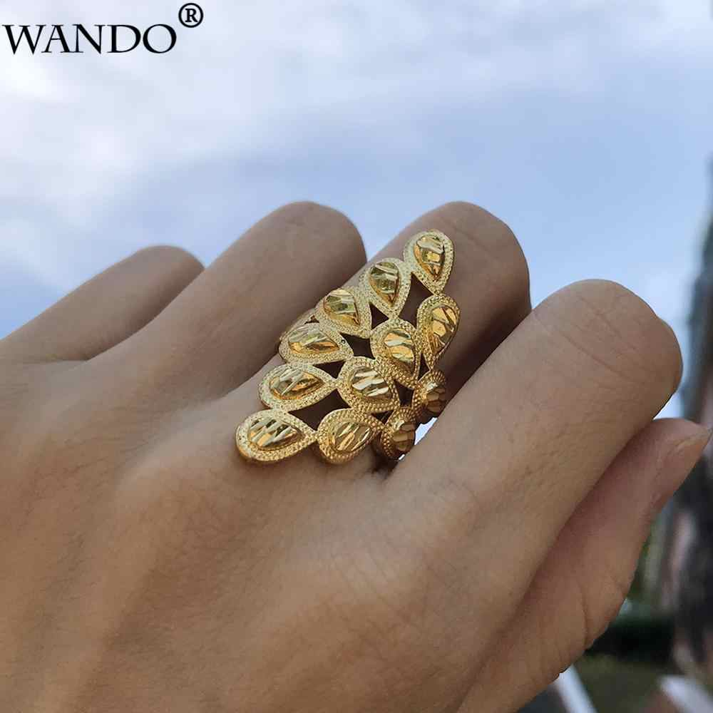 Wando Classic Can Free size Phoenix's Gold Color Rings for Women Ramadan Arab Ethiopian Jewelry Birthday Party Gifts ring