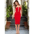 FD6019 Women Sexy Strapless Dress Vestidos Saias Elbise Chest Wrapped Hollow out Buttons Dresses Jupe Robe Drop Shipping