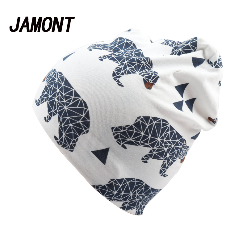 Print Animal Cotton Hat Cap For Kid Girls Boys Spring Autumn Outdoor Casual Beanies Skullies Knitted Bonnet