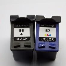 C6656A C6657A Восстановленные картриджи для HP56 57 XL HP56 HP57 Photosmart 245 7000 7150 серии 7260 7345 7350 7459 7450