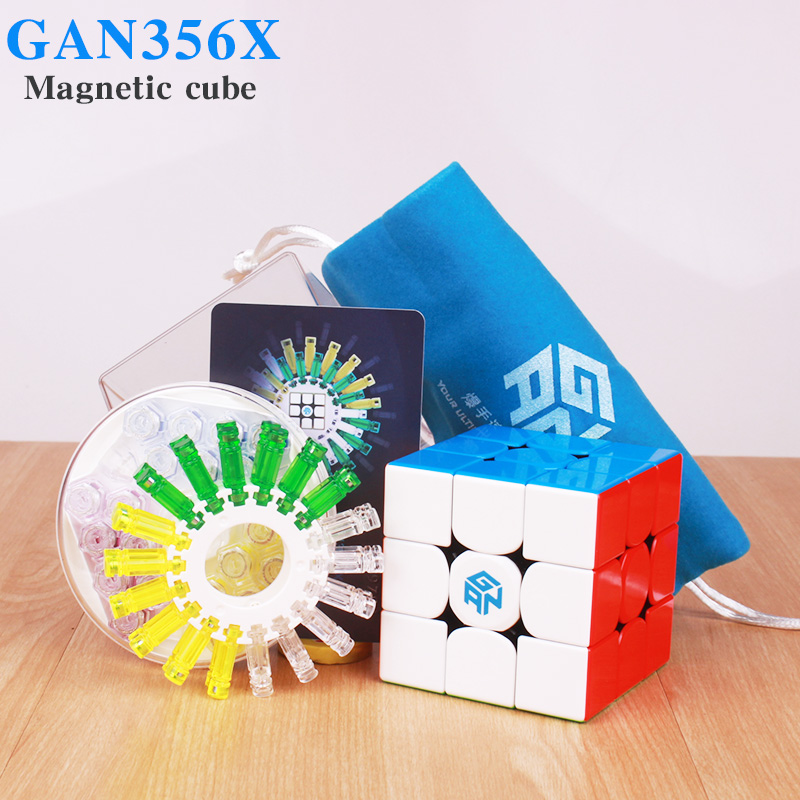 GAN356 X Magnetic Magic Cubes Profissional Gan 356x Speed Cube Magnets Puzzle Cubo Magico gans 356 X Neo Cube In Stock