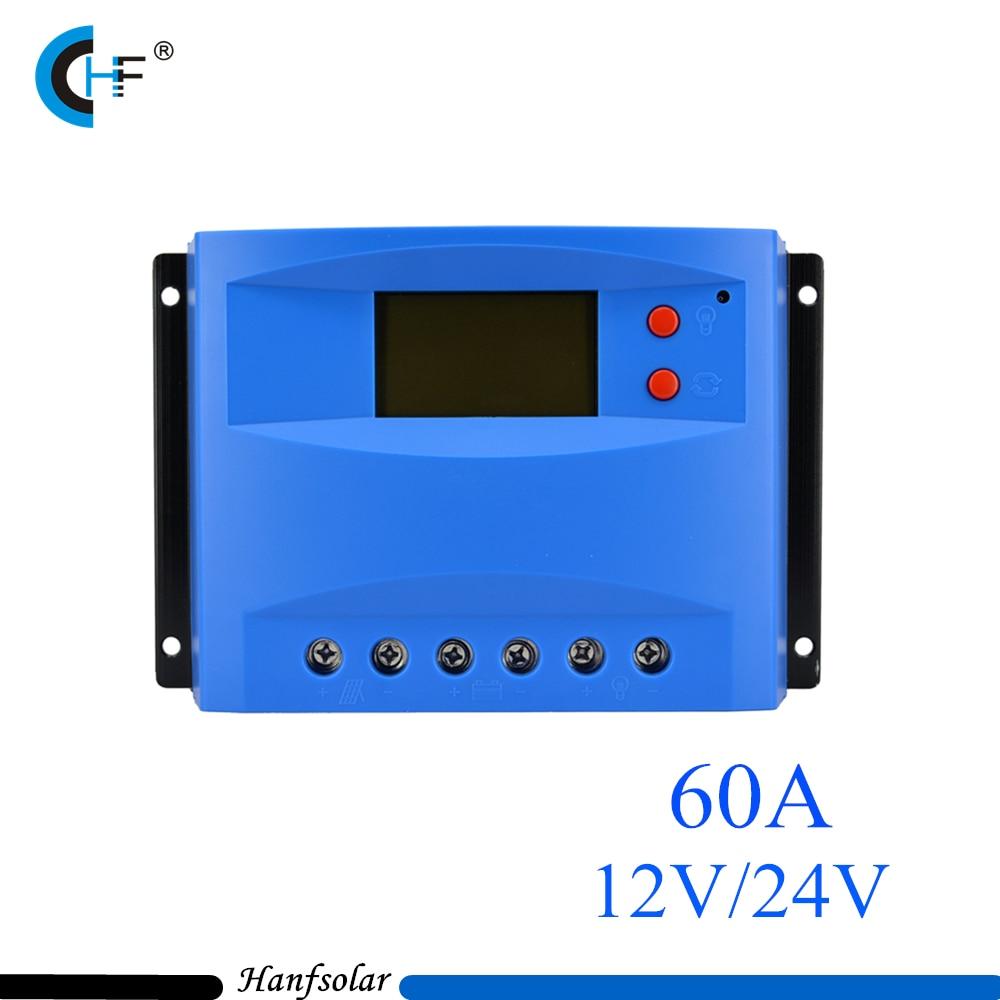 5pcs/lot  PWM 60A LCD Solar Charge controller 12V 24V auto switch LCD display 60 amps Solar charge controller CK60DU cheap saipwell high power 12v 60a pwm solar charge controller ce rohs smg60
