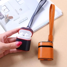 Luxury Leather Case For Airpods PU + PC Cover Cases For Air Pods Bluetooth Earpods Earphone Leather Protective Skin DropShipping